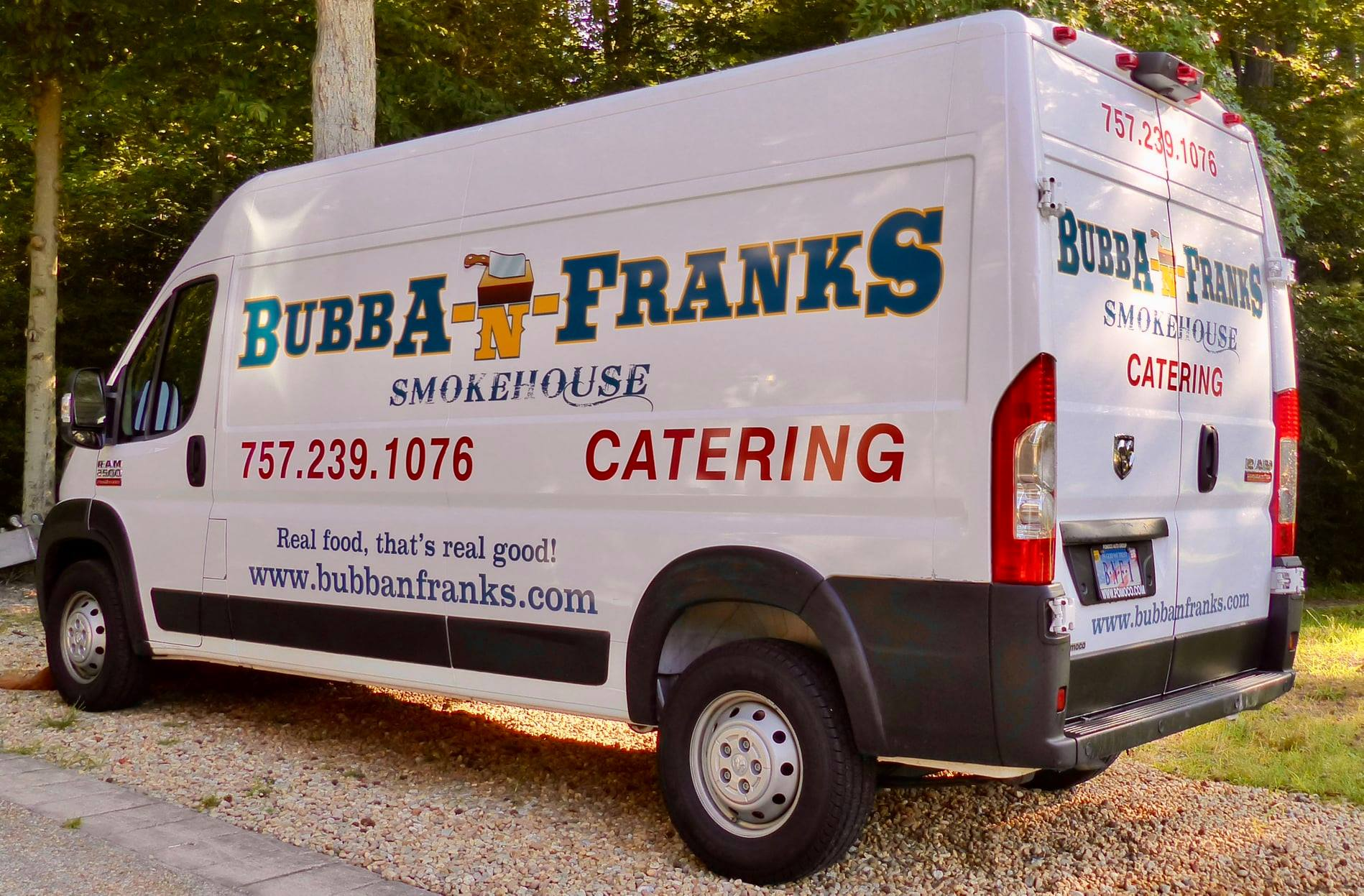 Bubba N Franks Catering Van