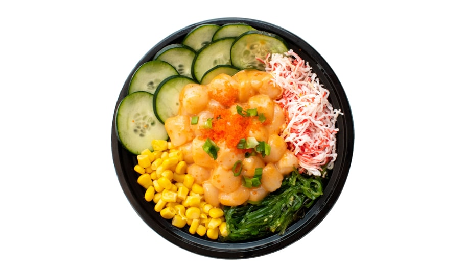 Spicy Scallop Poke Bowl