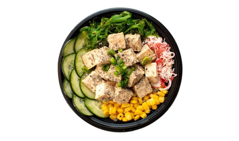 Seasoned Tofu Poke Bowl