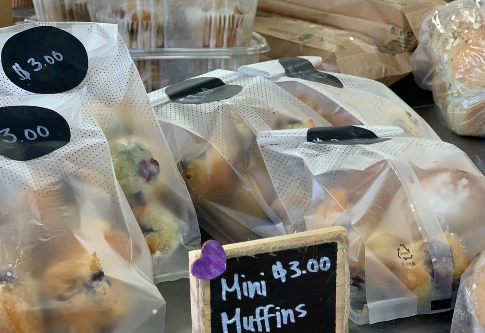 bag of mini muffins