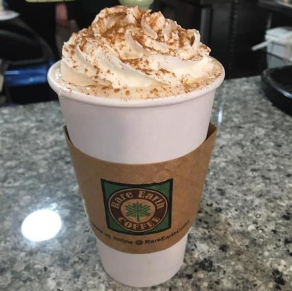 hot coffee with whipped cream