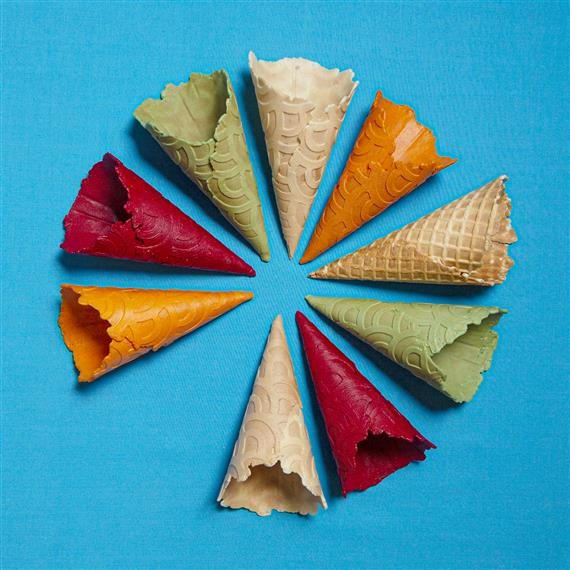 various flavors of cones