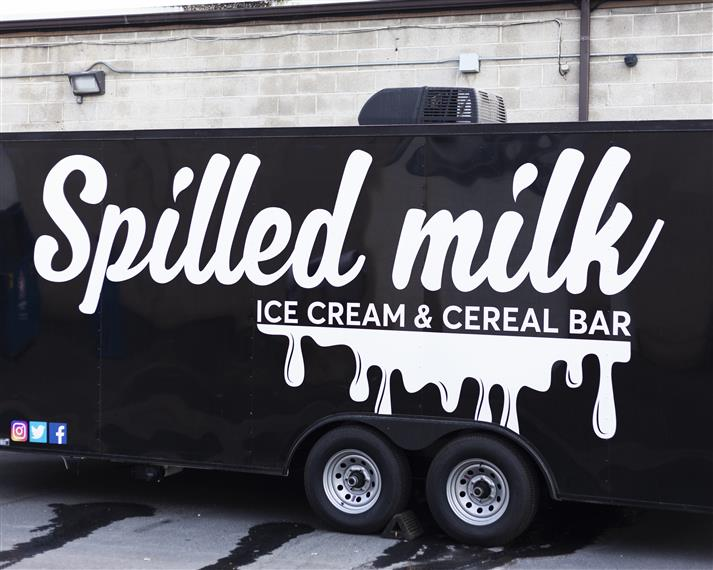 spilled milk ice cream & cereal bar truck