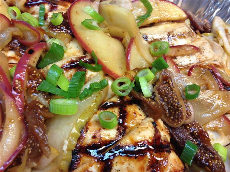 grilled chicken with assorted veggies