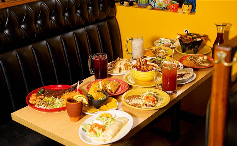 assorted meals on a table
