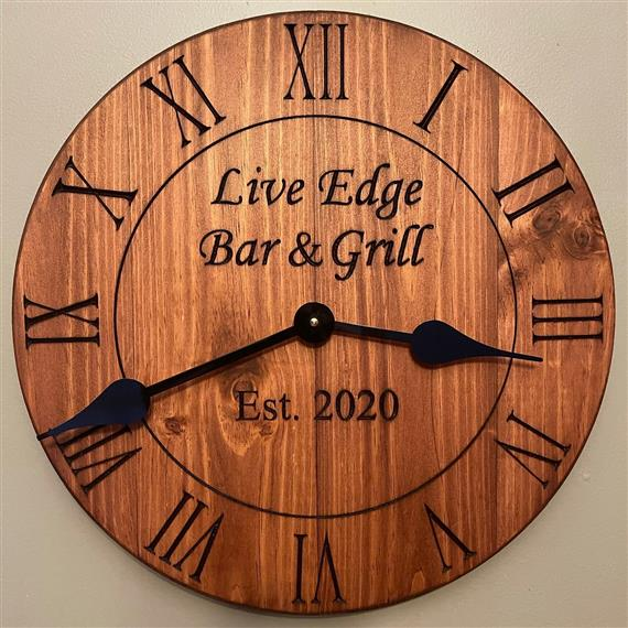 clock for Live edge bar & grill