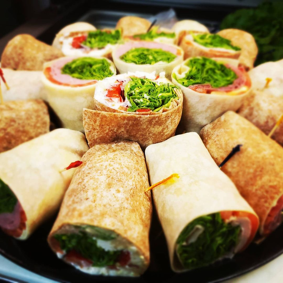 platter of assorted wraps