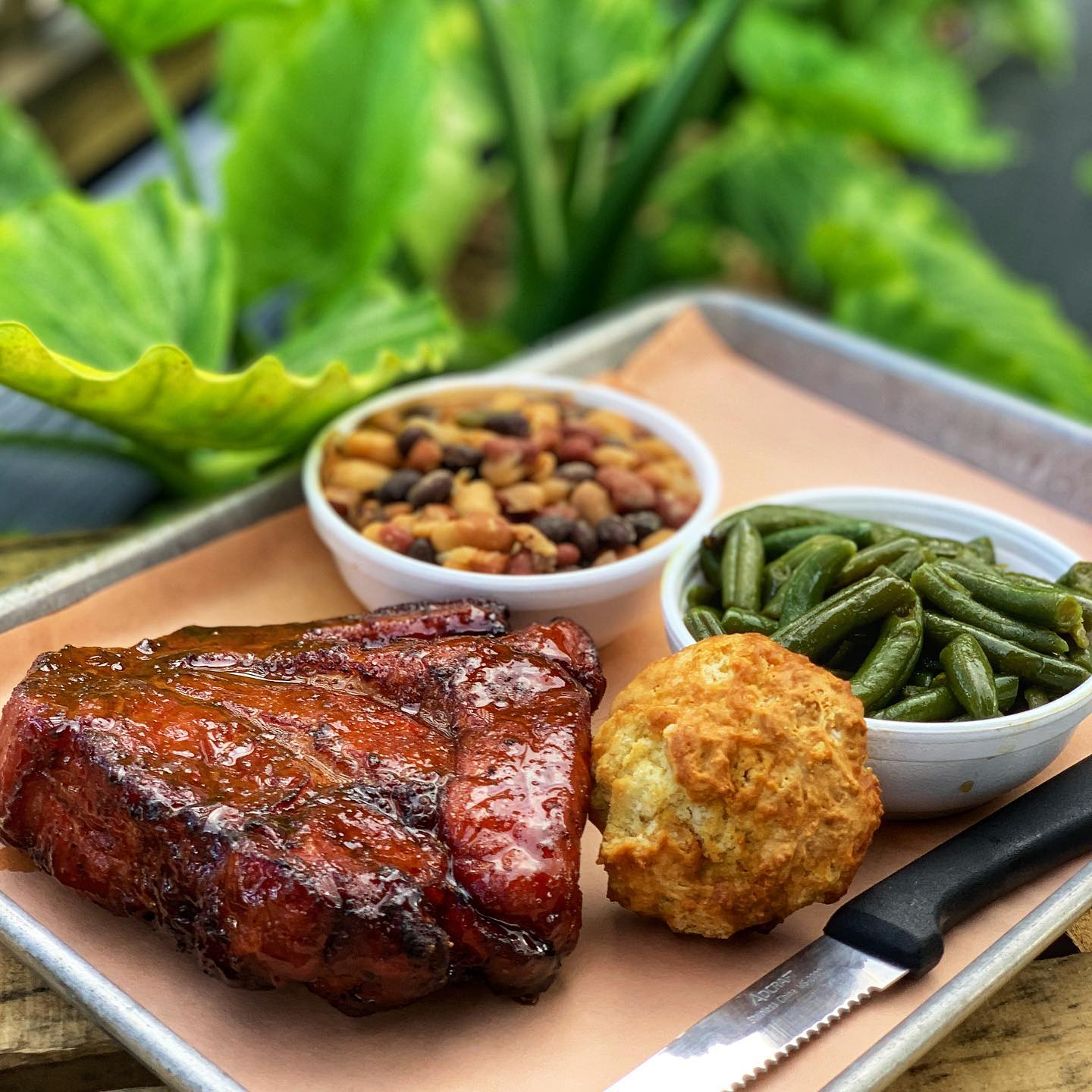 jumbo pork chop marinated, slow smoked, and finished with our sour orange sauce made with fresh squeezed local sour oranges