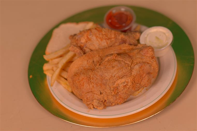fried pork chops with fries