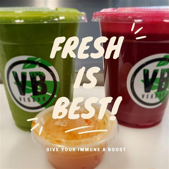 vegbar smoothies with fresh is best | give your immune system a boost