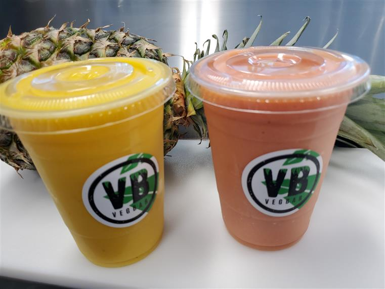 various flavors of smoothies