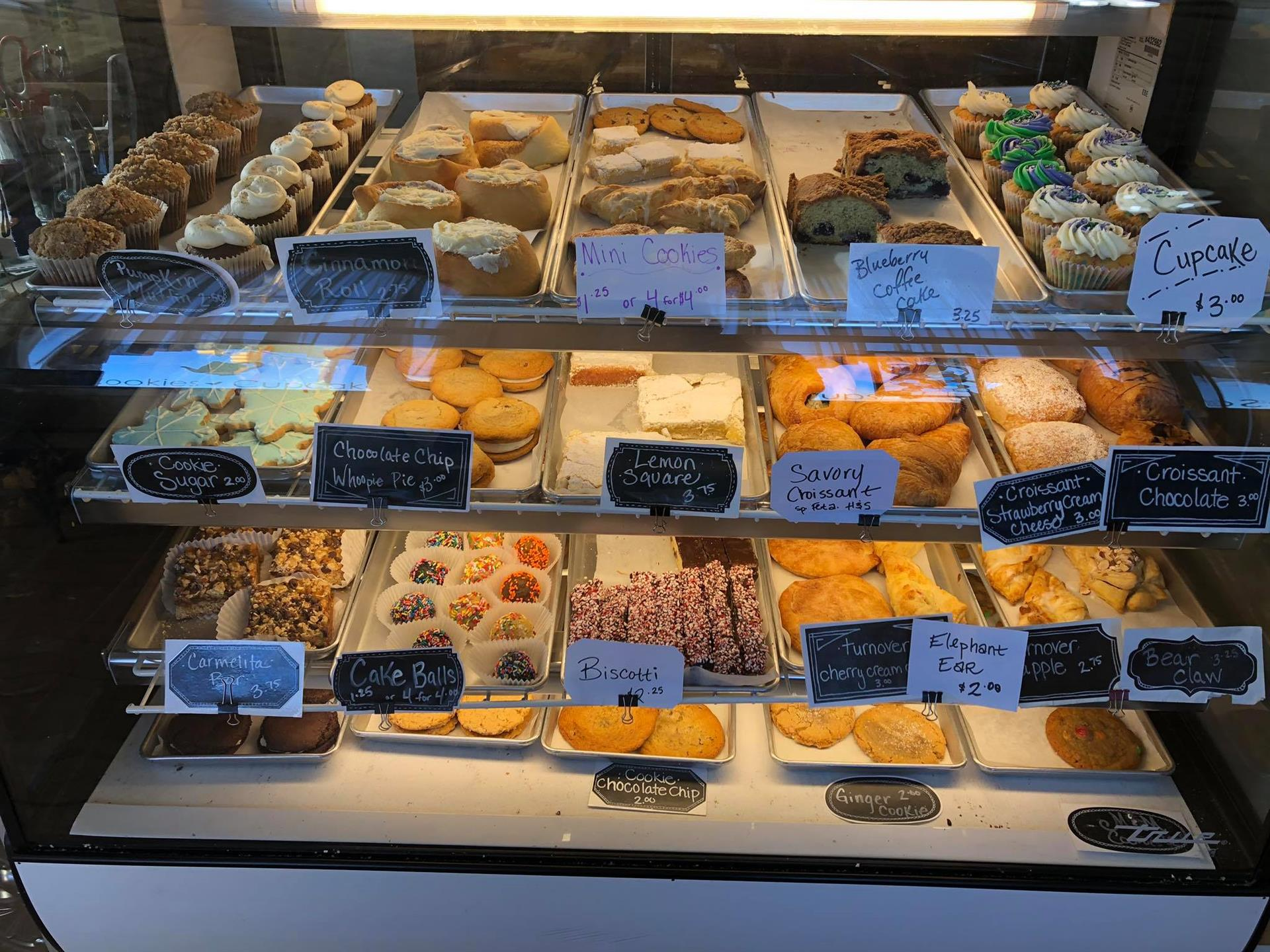 display of assorted cakes and pastries