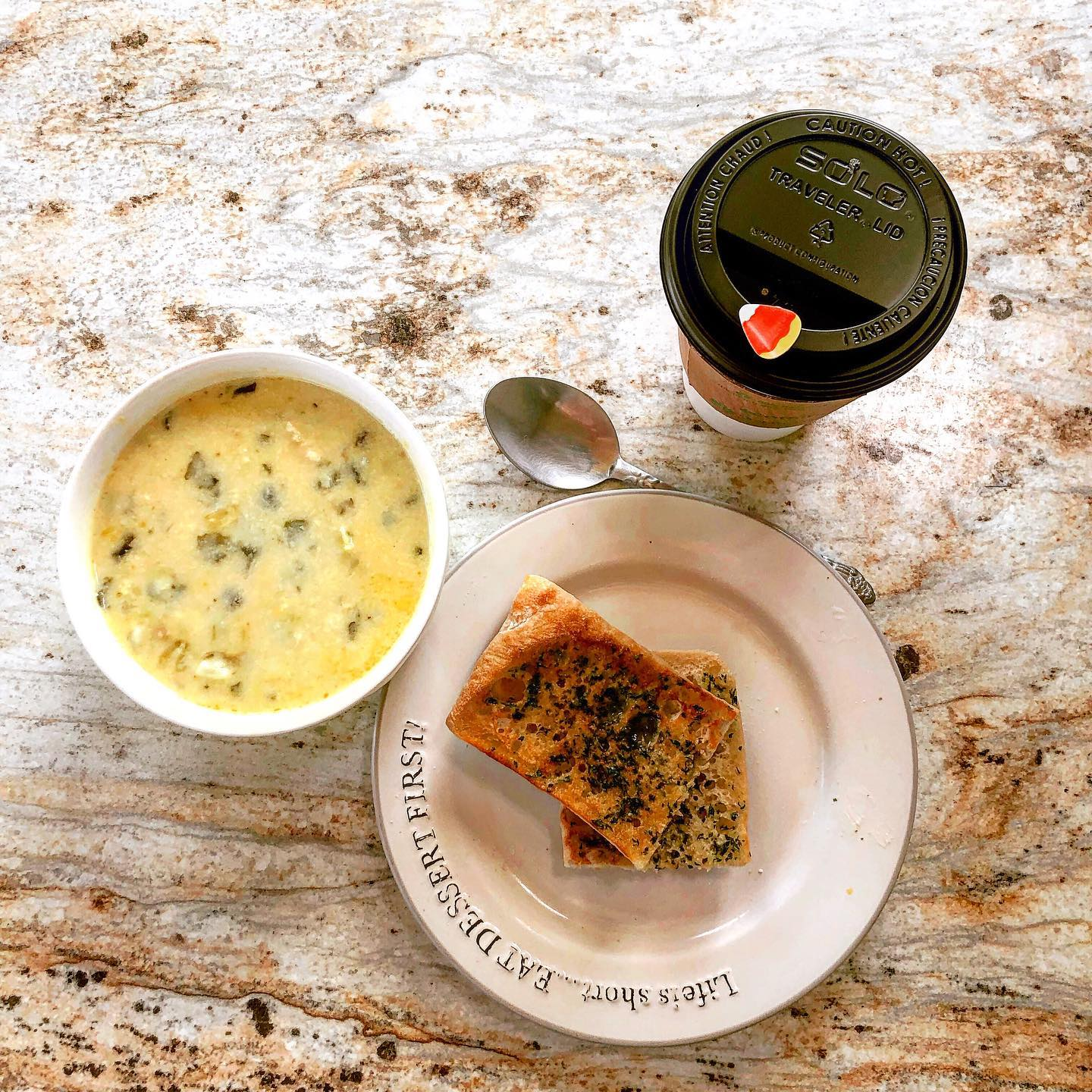 kickin' pepper-jack and broccoli soup with toast