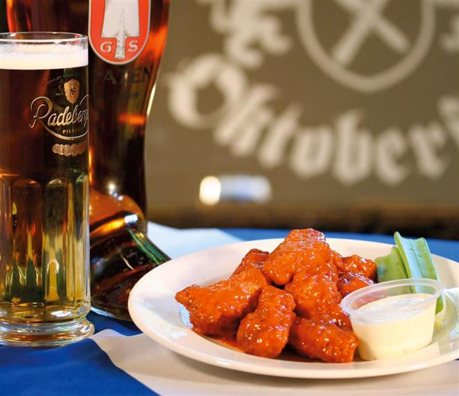 buffalo wings with beer on the side