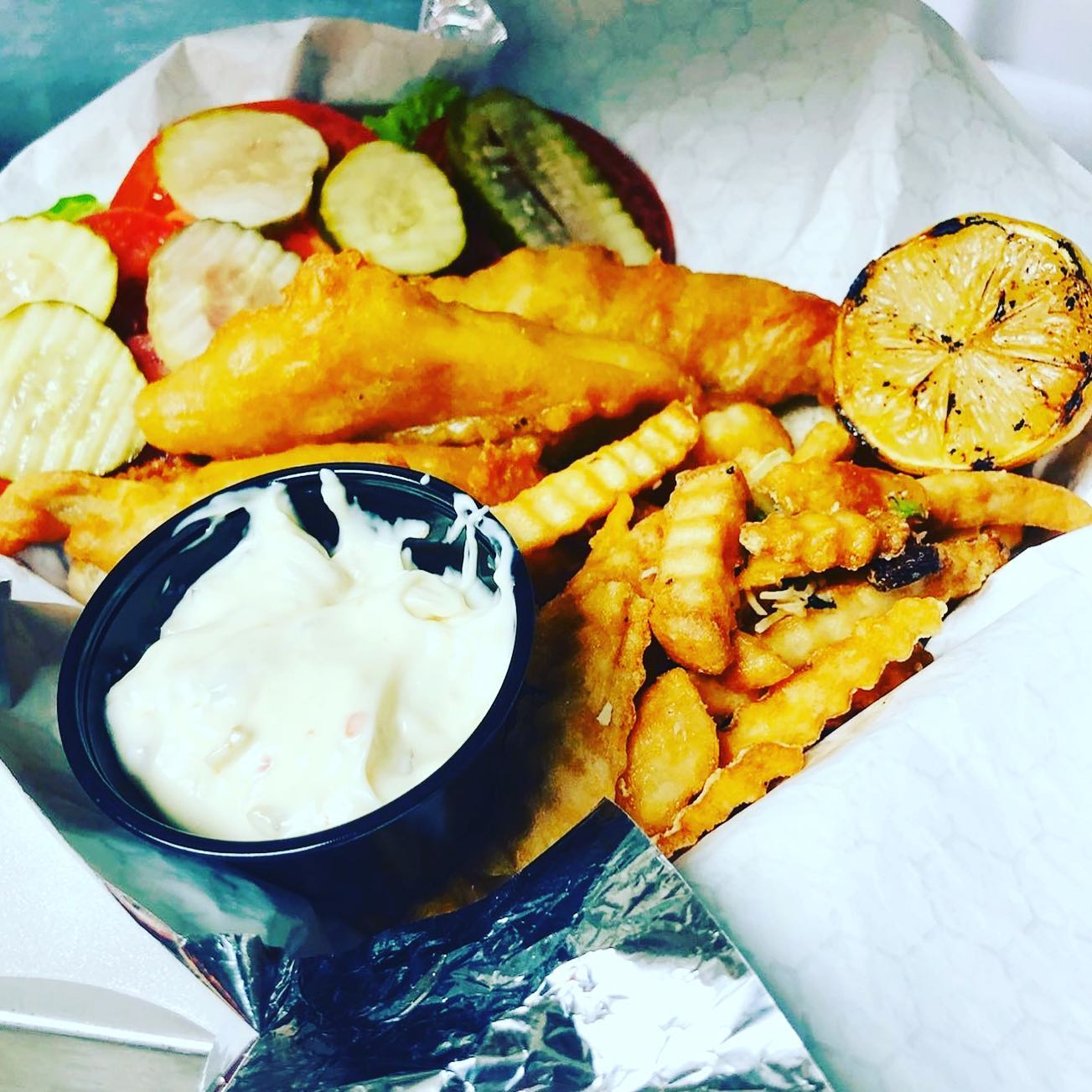 fish and chips basket