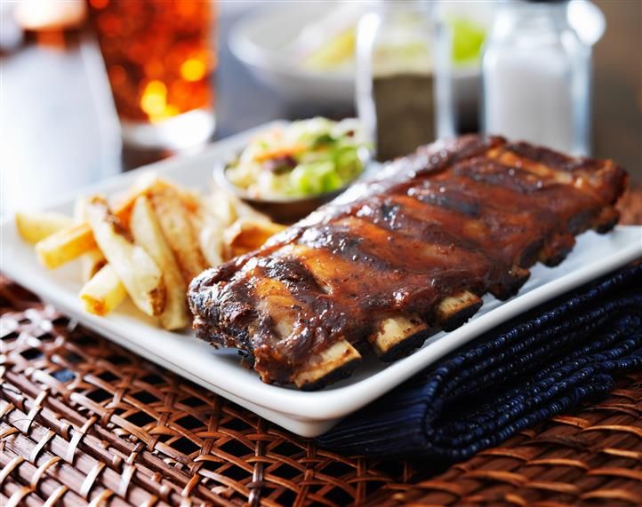 rack of ribs with french fries