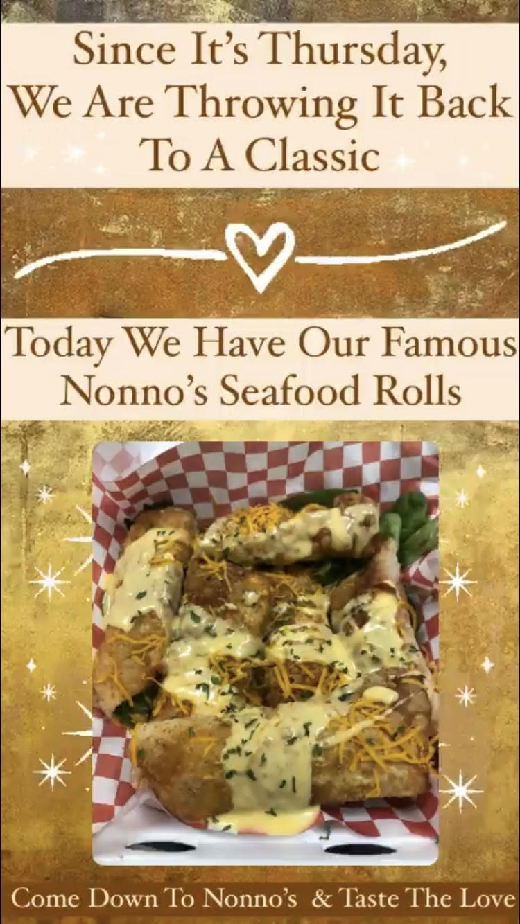 Today, here at Nonno's, we have a classic that we know you will love💥 . 💥💥💥We're bring you our classic & delicious Nonno's Seafood Rolls 💥💥💥 . The cravings got you? Nonno's has you covered for delicious and authentic Cajun Cuisine and Fresh Homemade Pastries. . Nonnos Cajun Cuisine and Pastries is located on 2025 North Claiborne Avenue, New Orleans. We offer catering and serve breakfast all-day. . Food so good you can almost taste the love. This is Nonno's promise to you 💥 . #tastethelove #nonnos504 #cajunfood #nolacajuncuisine #neworleans #neworleansfoodies #neworleanseats #neworleanseating #neworleanscajunseafood #neworleanscajun #alldaybreakfast #neworleansfood #neworleansrestaurants #neworleansfriedchicken #louisianafriedchicken #neworleansfood #neworleans #neworleansrestaurants #louisianafood #louisianacajunseafood #louisianafoodie #louisiana #louisianarestaurant #louisianaseafood #louisianacajun