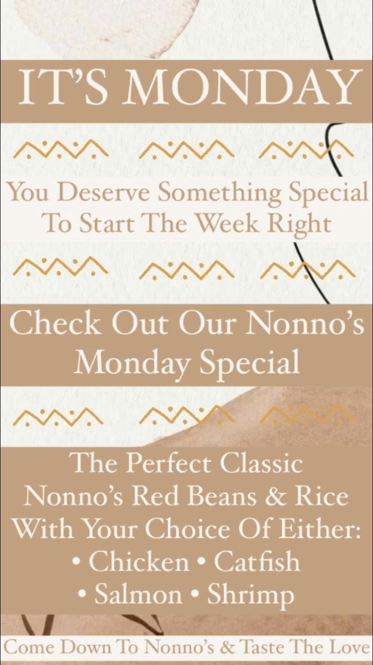 IT'S MONDAY 💥 We have exactly what your need to start your week off right. 💥 . 💥The Ultimate Classic Nonno's Red Beans And Rice. With Your Choice Of Either • Chicken • Catfish • Shrimp • Salmon 💥 . The cravings got you? Nonno's has you covered for delicious and authentic Cajun Cuisine and Fresh Homemade Pastries. . Nonnos Cajun Cuisine and Pastries is located on 2025 North Claiborne Avenue, New Orleans. We offer catering and serve breakfast all-day. . Food so good you can almost taste the love. This is Nonno's promise to you 💥 . #tastethelove #nonnos504 #cajunfood #nolacajuncuisine #neworleans #neworleansfoodies #neworleanseats #neworleanseating #neworleanscajunseafood #neworleanscajun #alldaybreakfast #neworleansfood #neworleansrestaurants #neworleansfriedchicken #louisianafriedchicken #neworleansfood #neworleans #neworleansrestaurants #louisianafood #louisianacajunseafood #louisianafoodie #louisiana #louisianarestaurant #louisianaseafood #louisianacajun #redbeansandrice