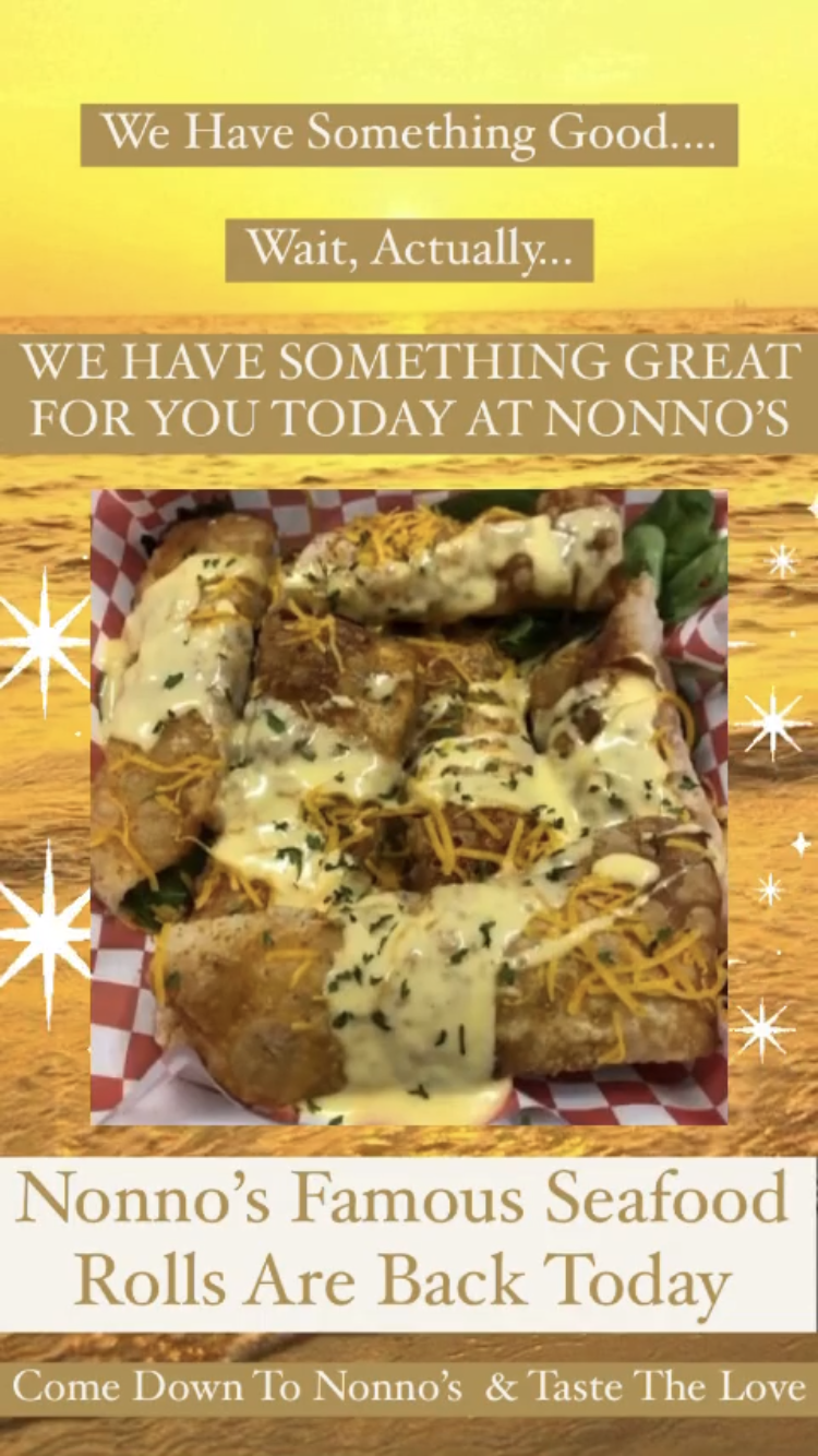 We have something good.... Wait, actually.... WE HAVE SOMETHING AMAZING FOR YOU TODAY AT NONNO'S 🔥⚜️🔥 . We have our famous Nonno's Seafood Rolls for you today 💥⚜️💥 . The cravings got you? Nonno's has you covered for delicious and authentic Cajun Cuisine and Fresh Homemade Pastries. . Nonnos Cajun Cuisine and Pastries is located on 2025 North Claiborne Avenue, New Orleans. We offer catering and serve breakfast all-day. . Food so good you can almost taste the love. This is Nonno's promise to you 💥