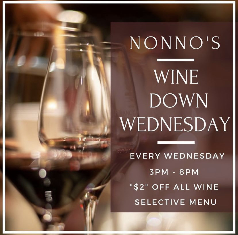 INTRODUCING 🍷 Nonno's Wine Down Wednesday 🍷 . Your Wednesday just got a whole lot better... and smoother. Come by to Nonno's every Wednesday, kick back, relax and enjoy our selection of delicious wines at $2 off accompanied by a selective Nonno's menu. . The cravings got you? Nonno's has you covered for delicious and authentic Cajun Cuisine and Fresh Homemade Pastries. . Nonnos Cajun Cuisine and Pastries is located on 2025 North Claiborne Avenue, New Orleans. We offer catering and serve breakfast all-day. . Food so good you can almost taste the love. This is Nonno's promise to you 💥 .