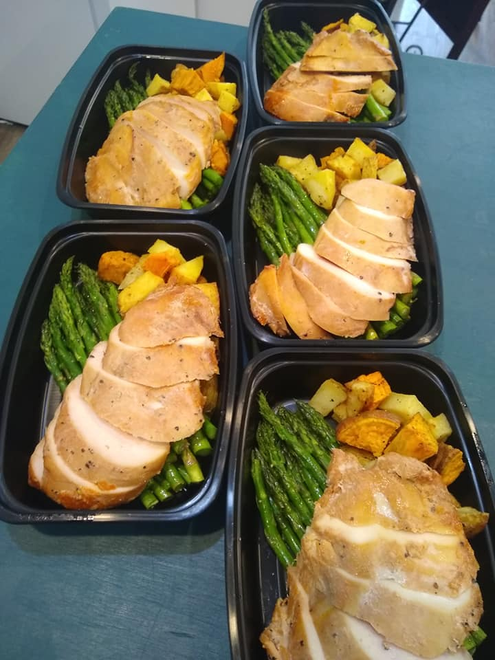 assortment of meal preps