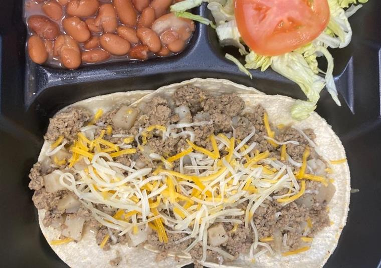ground beef tacos with cheese