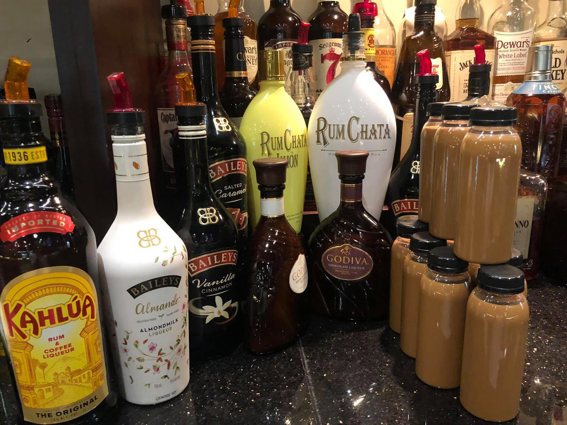 Assorted bottles of alcohol