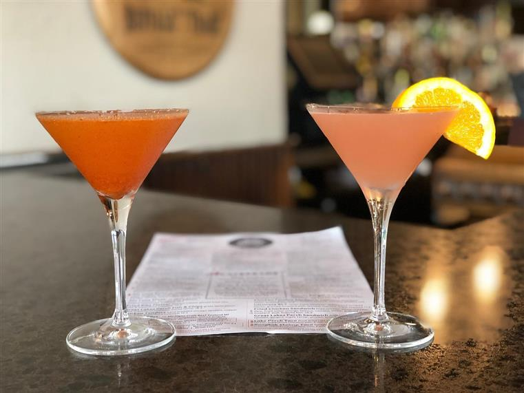 two martinis on the bar