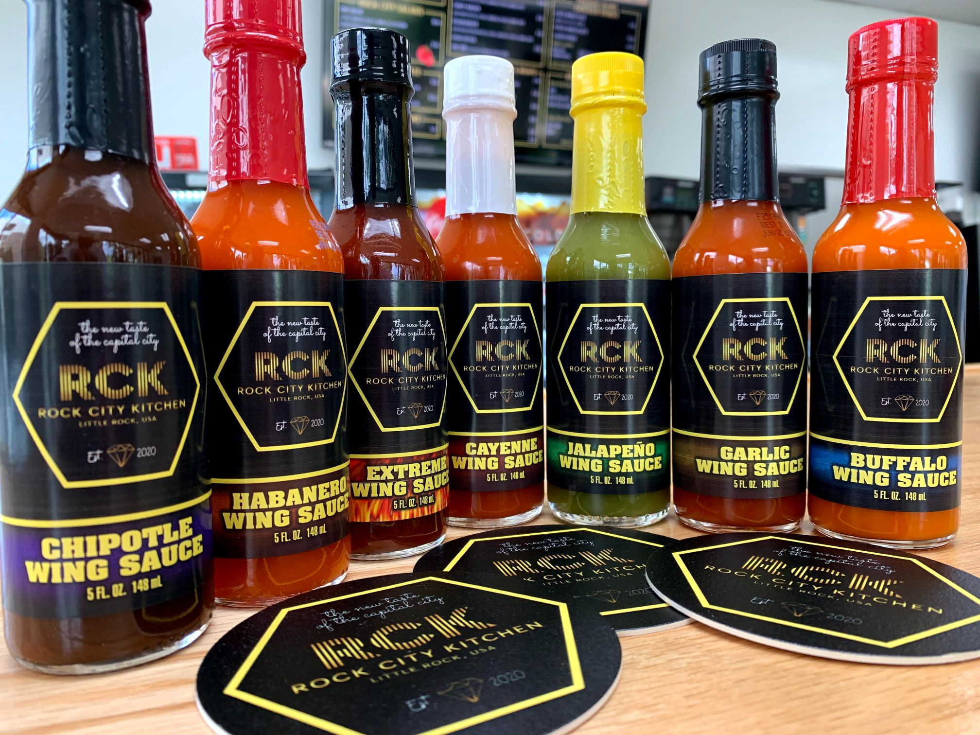 assorted wing sauces