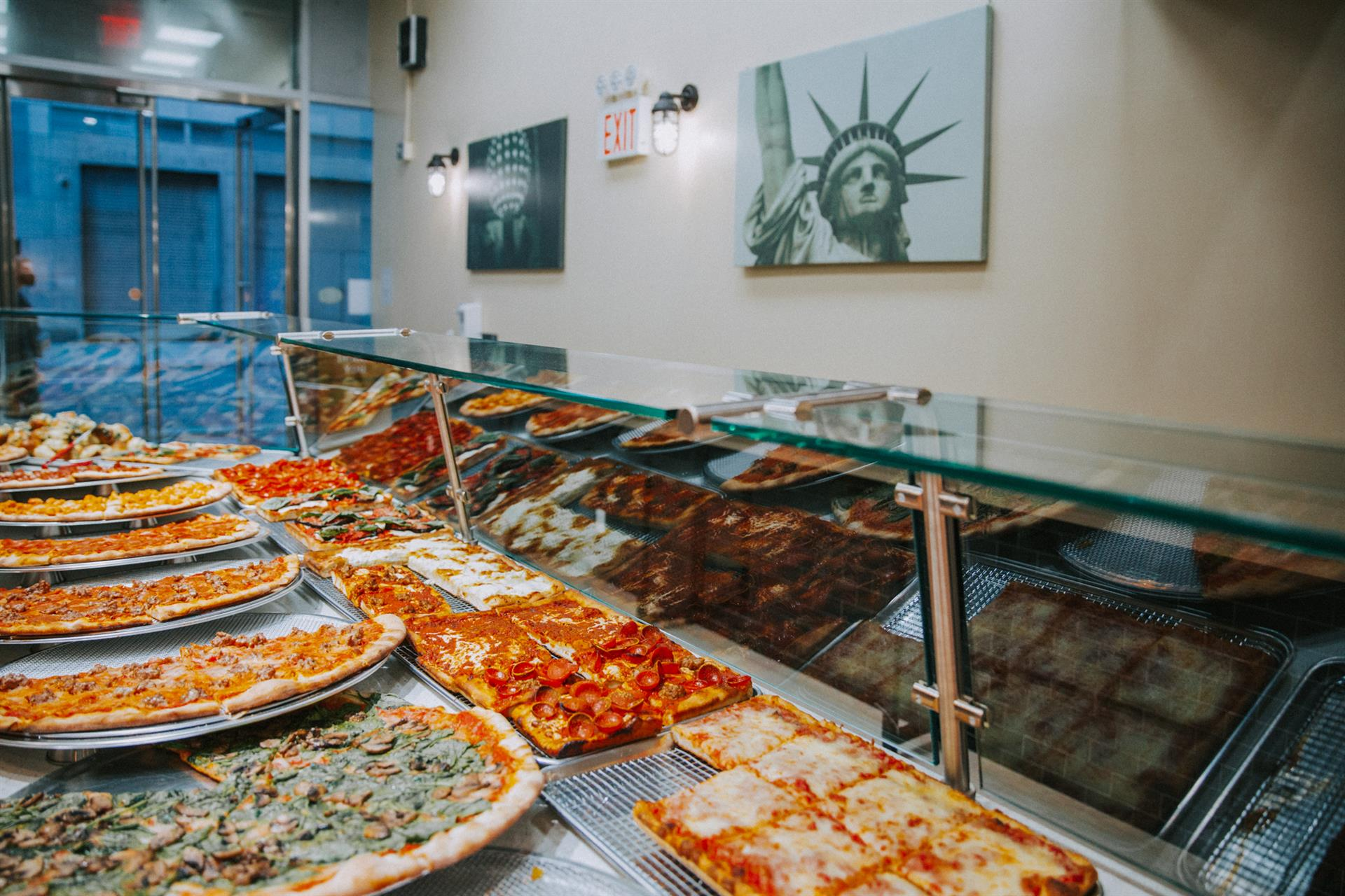 assorted specialty pizzas