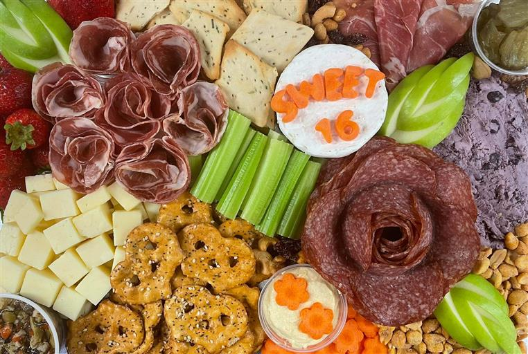 Sweet 16 Charcuterie Board for 4