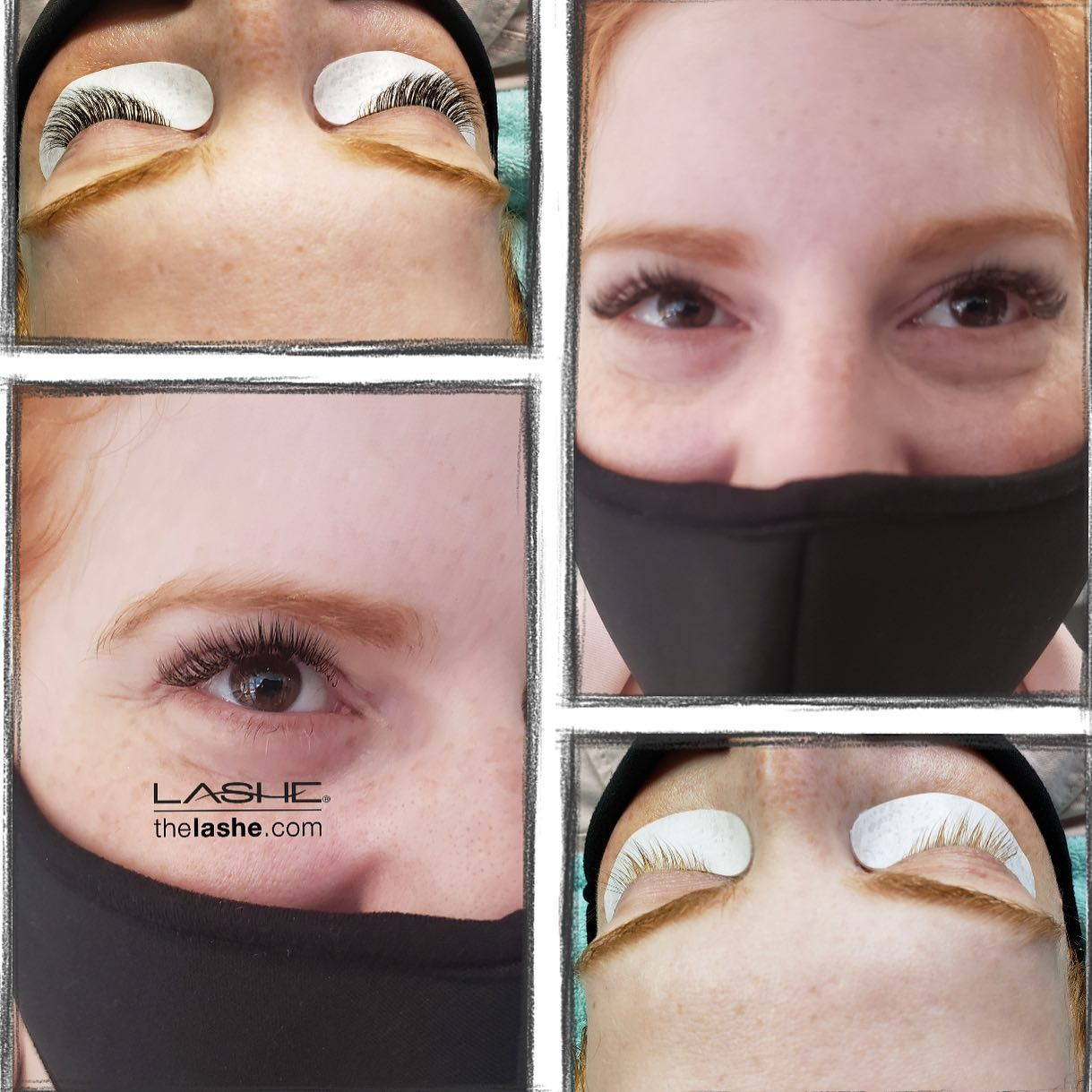before and after eyelash extensions