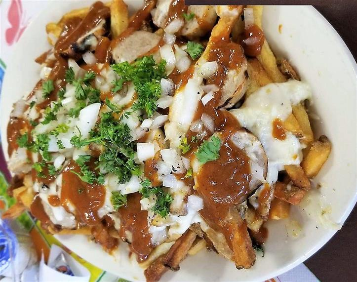 loaded poutine fries