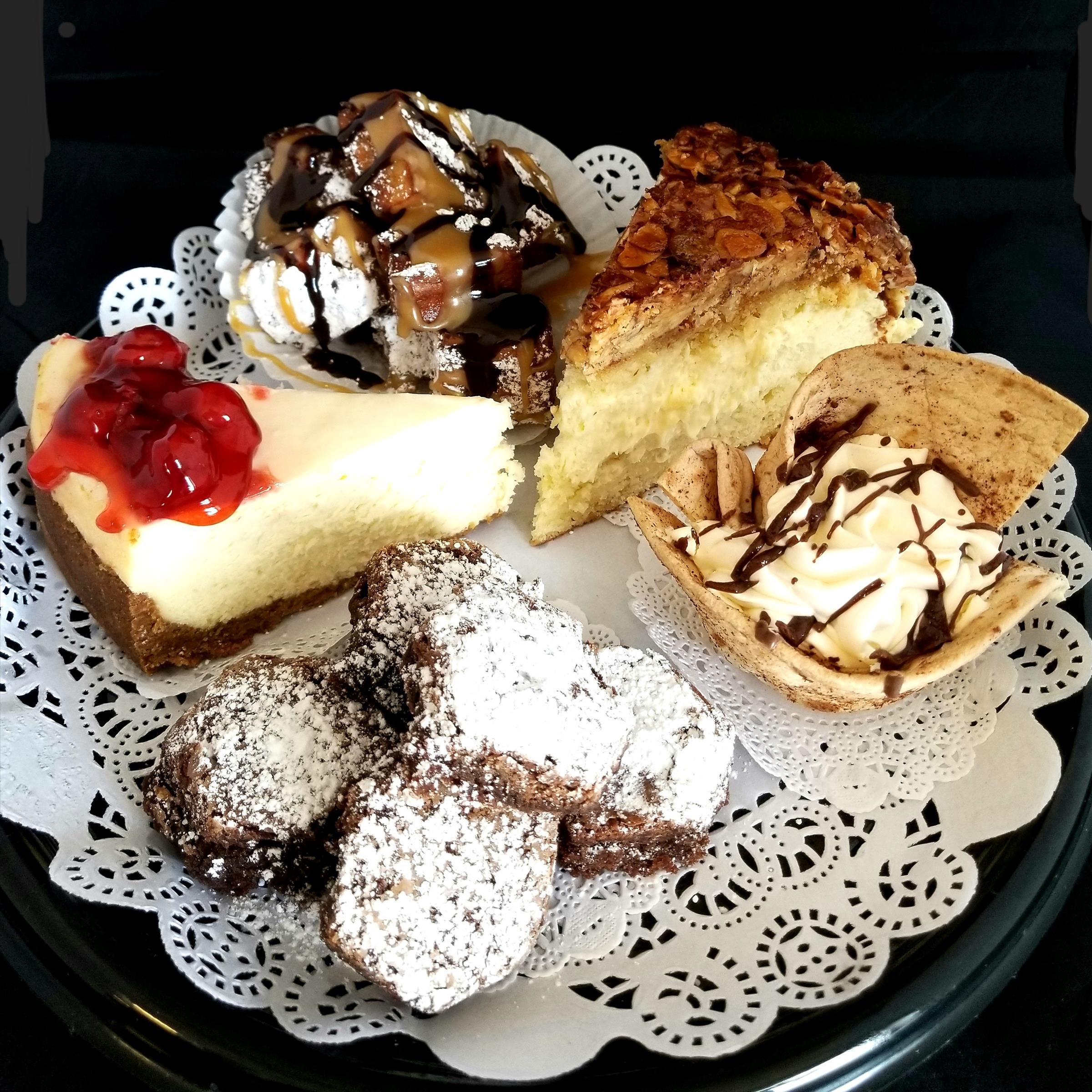 various desserts and cookies