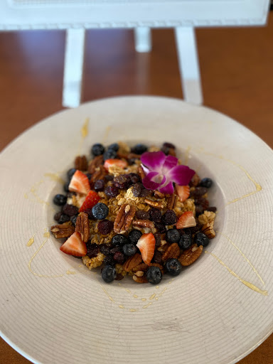 strawberry, blueberry, and pecan mix