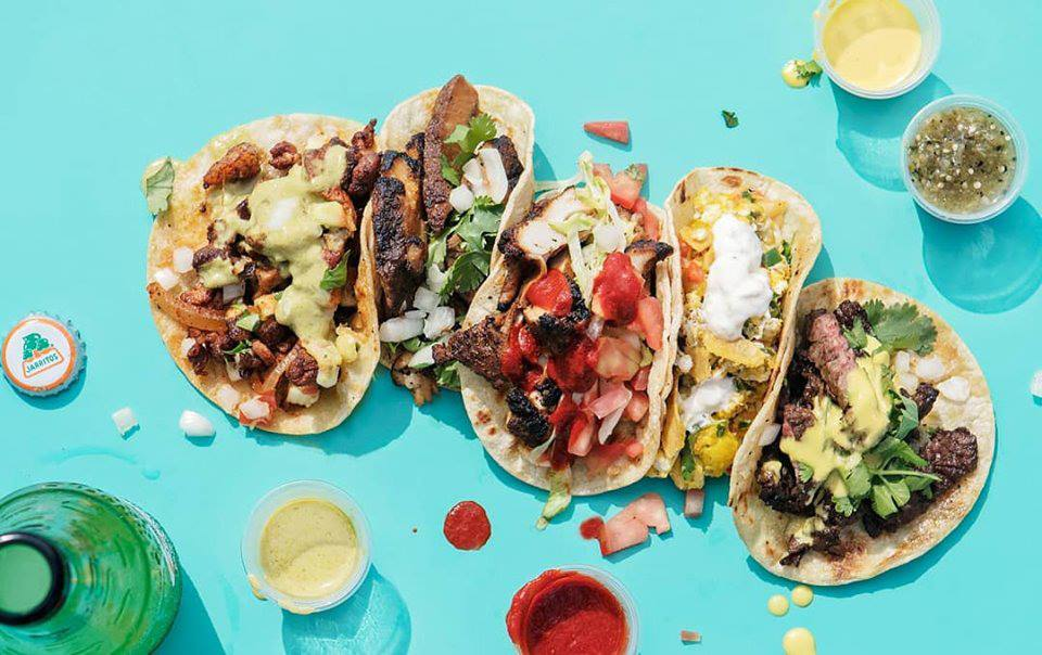 assorted tacos on a table
