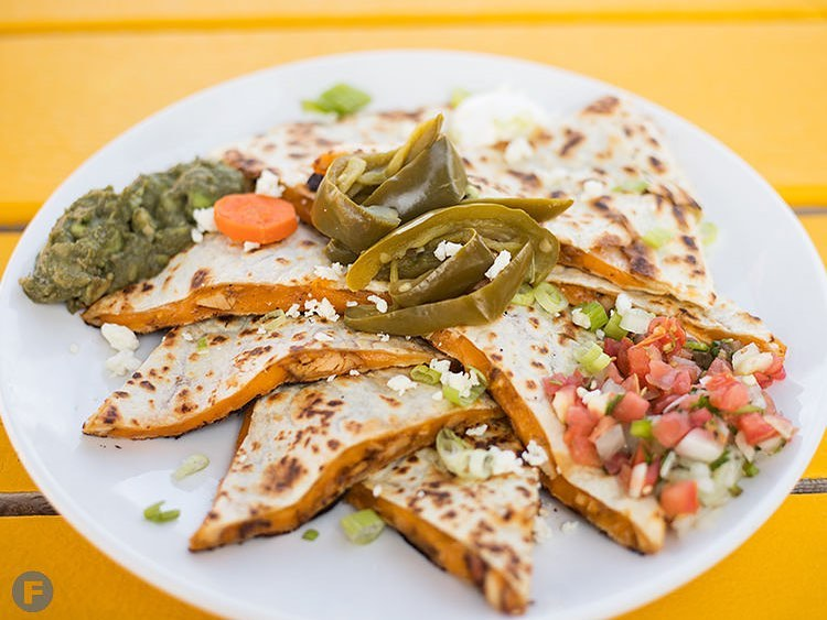 cheese quesadillas on a plate
