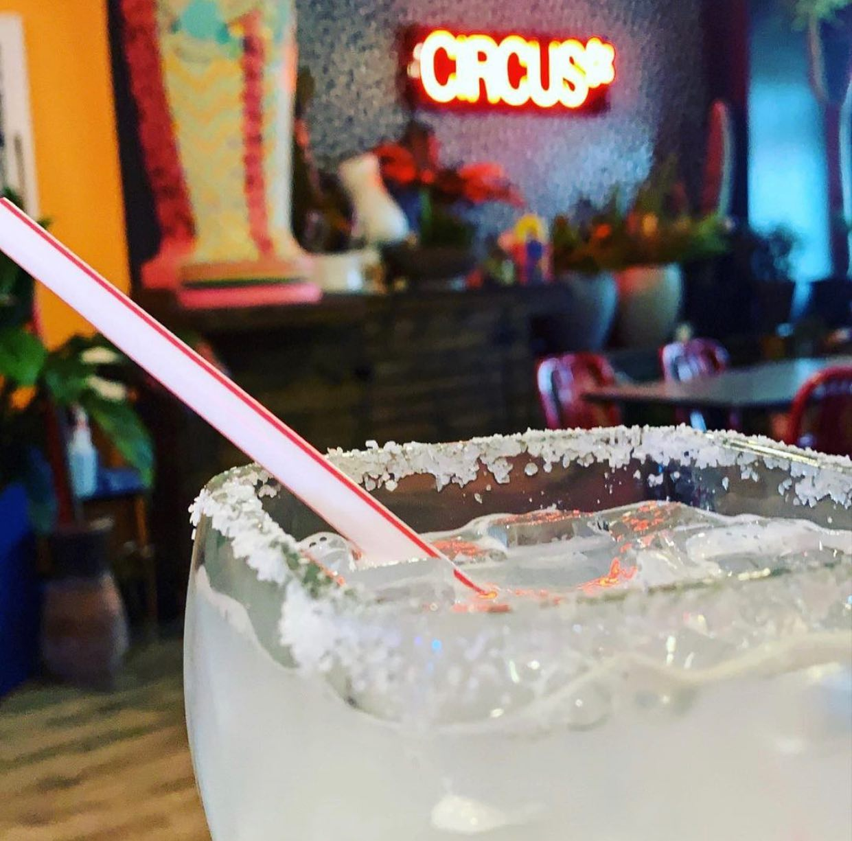 margarita on the rocks with a salted rim