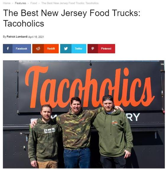 the best new jersey food trucks: Tacoholics news article