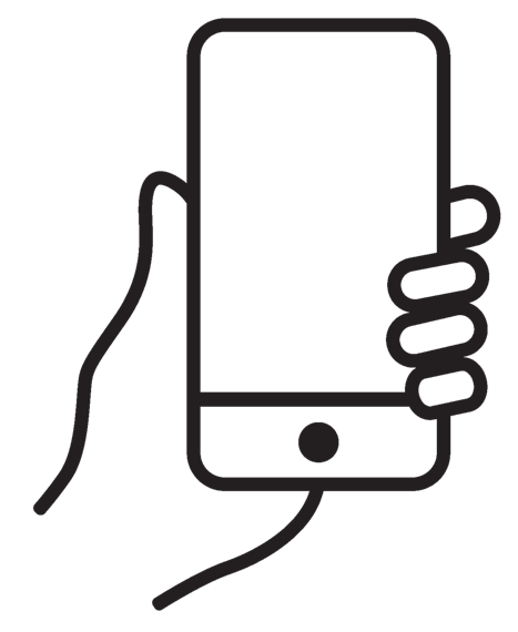 three dimensional drawing of a hand holding a phone
