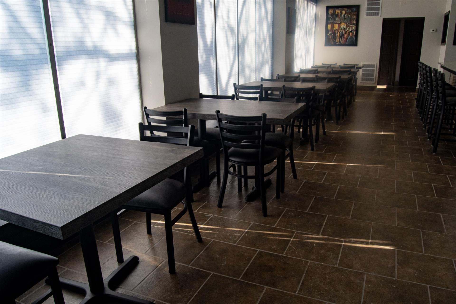 indoor dining at grinnell cafe