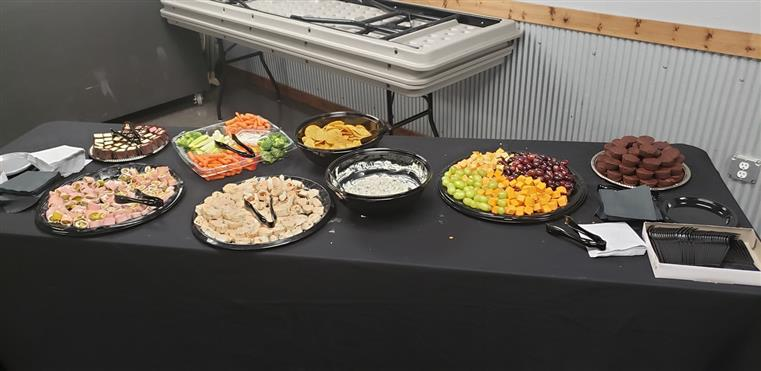 assortment of snack trays on a table
