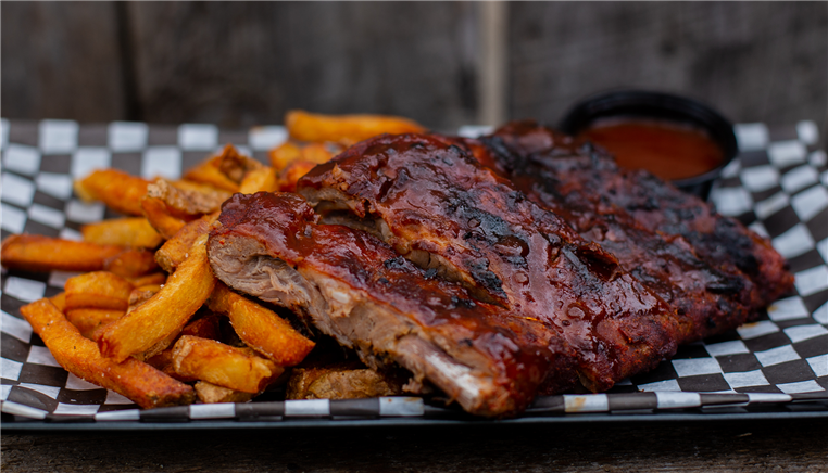 ribs and a side of fries