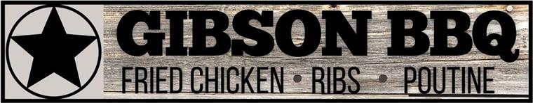 gibson bbq.  fried chicken. ribs. poutine