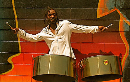 a man playing the drums