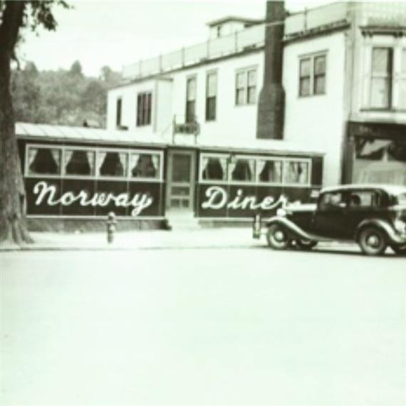 old photo of norway diner