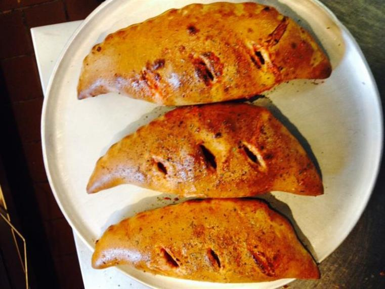 calzones on plate