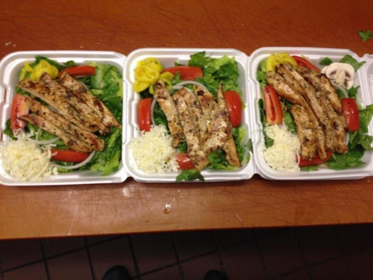 3 takeout salad trays