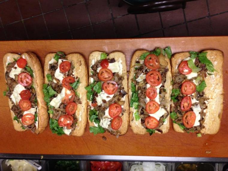 hot subs with tomato and basil