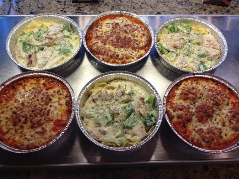 6 catering trays of Fettuccini and Parmigiana